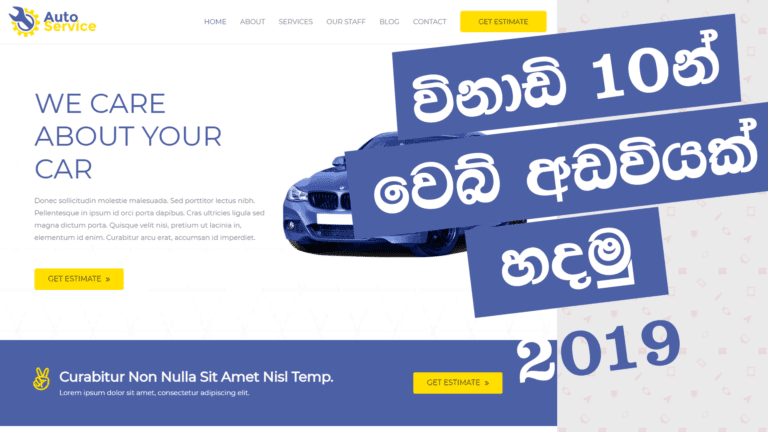 How to Create a Website in 10 minutes - Sinhala
