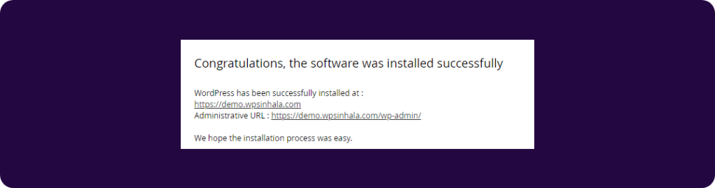 WordPress install on cPanel