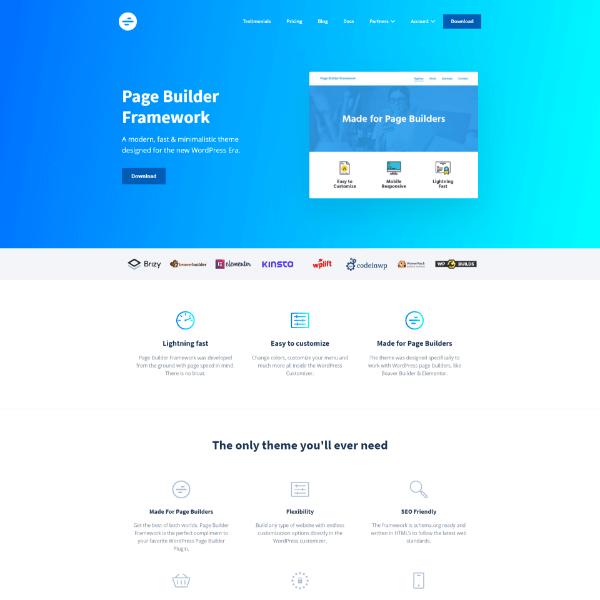 Buy Page Builder Framework